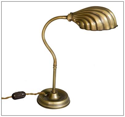 Gooseneck desk lamp with scalloped shade aloadofball Images